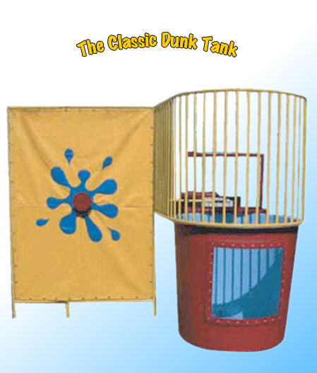 Rent the Classic Dunk Tank for splashing watery fun